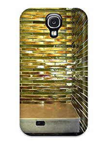 High-quality Durability Case For Galaxy S4(stall Shower With Iridescent Green Glass Tile)