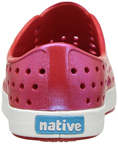 native Kids' Jefferson Iridescent Child Shoe, Torch Red/Shell White/Galaxy Iridescent,  9 Medium US Toddler by Native Shoes (Image #2)