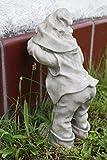Gnom spielt verstecken 31 cm Figur Garten Wichtel Troll Gartenfigur