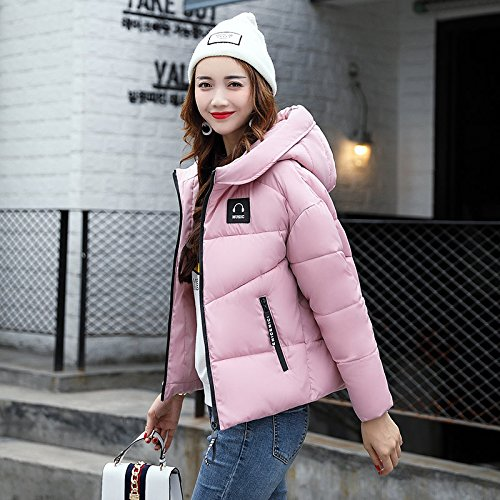 Xuanku Winter Clothing Cotton Coat Female Sau Thick Cotton Clothing Women'S Wild-Cap Short Breads Clothing And Cotton Jacket Pink
