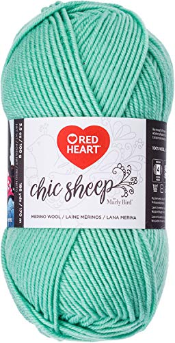 - Red Heart Chic Sheep Marly Bird, Crème de Mint Yarn,