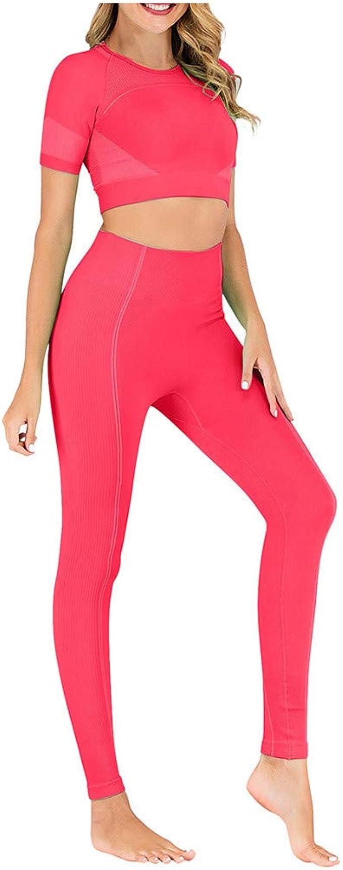 fengleas Damen Sportanzüge Yoga Kleidung Set Jogginganzug Sport ...