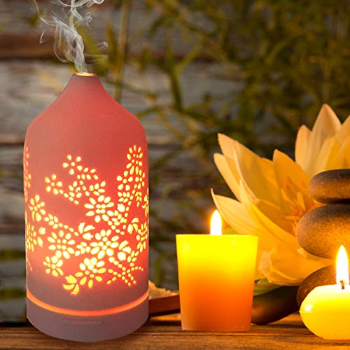 KOKO Diffuser Floral Infuser 120mL 7 Color Cool Mist Auto for Office Baby Yoga