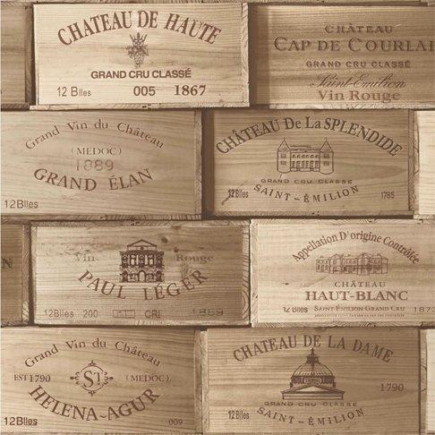 Caja de Vino de papel pintado efecto de madera madera vintage retro de corteza de cajas: Amazon.es: Hogar