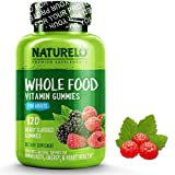 NATURELO Whole Food Vitamin Gummies for Adults - Chewable Gummy Multivitamin for Men & Women - Organic Great Tasting Berry Flavor - 120 Vegan Gummies