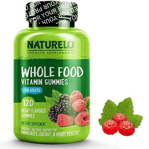 NATURELO Whole Food Vitamin Gummies for Adults - Chewable Gummy Multivitamin for Women - Organic Great Tasting Berry Flavor - 120 Vegan Gummies
