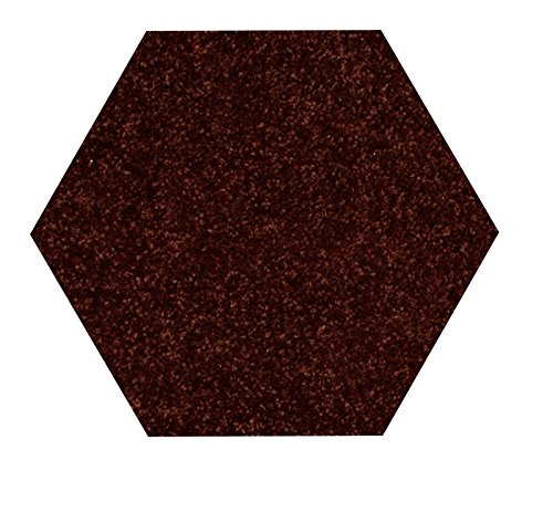 Bright House Solid Color Hexagon Shape Chocolate 5' Hexagon - Area - Hexagon Shape The