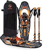 Snoweshoes kit Adventure Adult (Orange, 30 in, Optimized Weight up to 250lb)