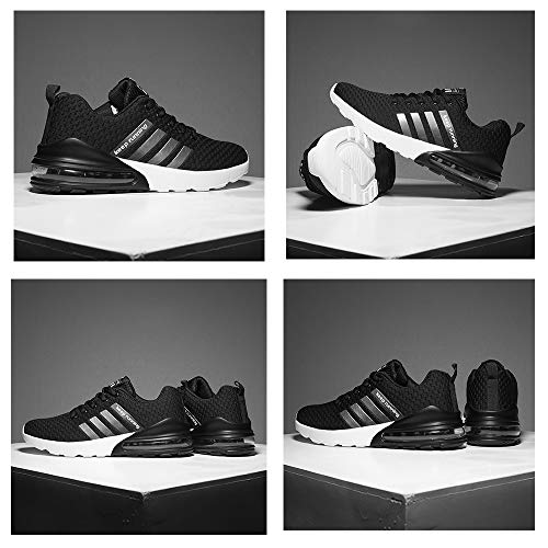 Turnschuhe Leder Herren Schwarz 2 Sneaker Schuhe Mode Herren Atmungsaktive Männer Top Schwarz MUOU Freizeitschuhe High Fq4Bwx