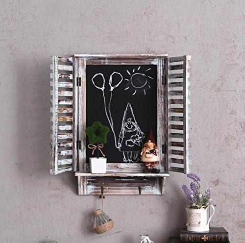 SU@DA Wandbehänge/dekorative Wand/Fenster/Ornamente/American Land/Vintage/Bar/Café/Ornamente/Holz/Haken/Tafel , a23-jk-258