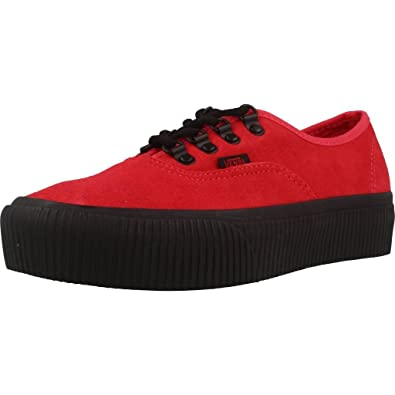 7954714a484cd3 Vans Womens Authentic Platform Embossed Roco Red Shoes 7  Amazon.co ...