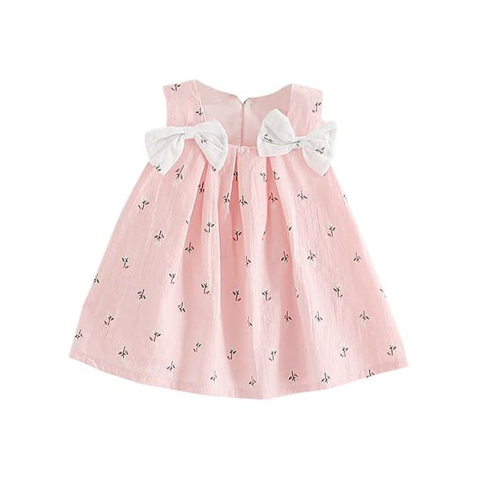 Brightup Baby Bow Knoten Blumenkleid 0-24 Monate kleines Mädchen ...