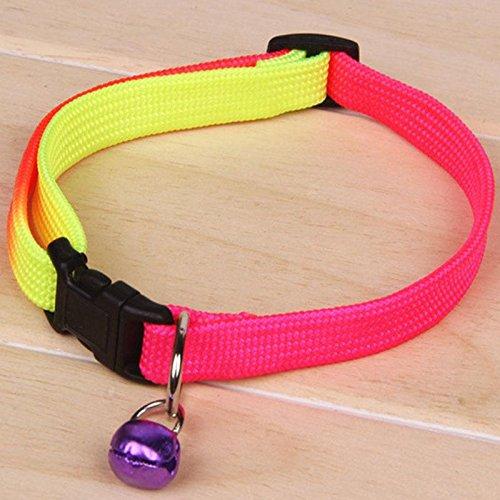 XIAOMU Collar de Moda para Mascotas, Perro, Gato, Colorido, Cascabel Ajustable, arnés de 1 cm