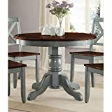 "42"" Round Table Top, Easily Accommodates Seating for 4, Multi-Step, Blue"