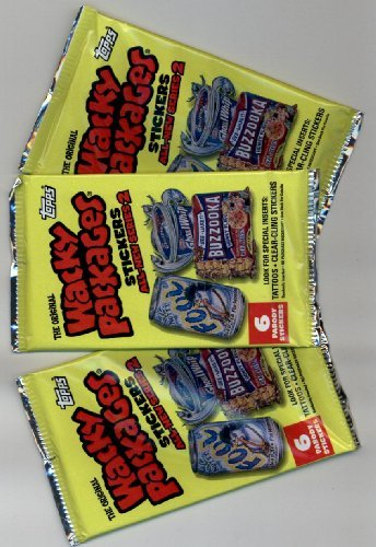 Wacky Packs Series (Wacky Packages Series 2 Unopened Pack of Parody Stickers (5 stickers/pack)- 3 PACK LOT by Topps)