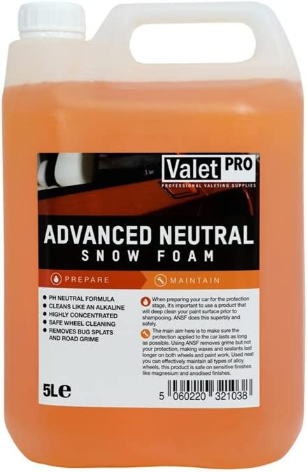 Valetpro Advanced Neutral Snow Foam 5 Liter Messbecher 250 Ml Auto