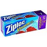 Ziploc Vacuum Pump Refill Bags, Quart Size, 12 Count