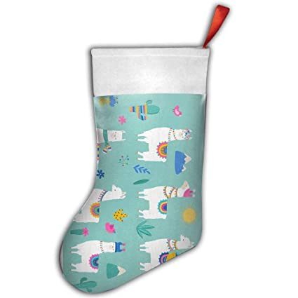 Llama Christmas Stocking.Amazon Com Hola Llama Christmas Stockings Sock Decoration
