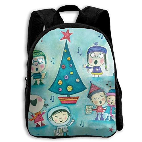 (DKFDS Backpacks School Season Kids Backpack Travel Gear Daypack,Child Christmas Greetings Kids Shoulder Bag)
