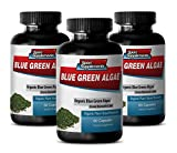 Natural Green Superfood from Klamath Lake for Skin Care - Blue Green Algae 500mg (3 Bottles 180 Capsules)