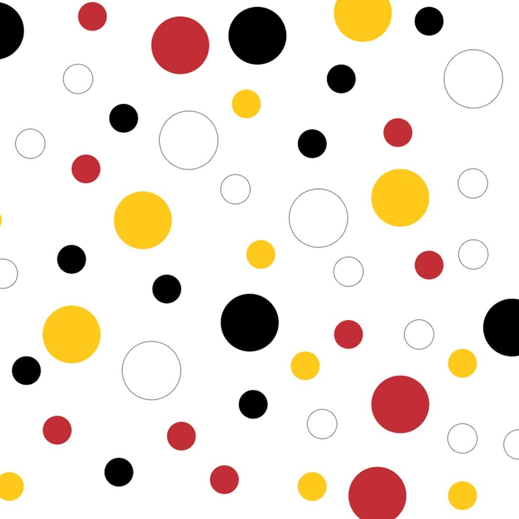 Black/Red/White/Yellow Vinyl Wall Stickers - 2 & 4 inch Circles (60 Decals)