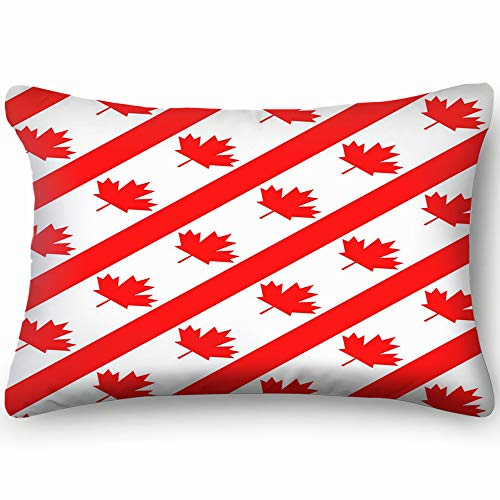 Mblue Decorative Pillow Covers Canadian Symbol Maple Leaf Flag Illustrations Clip Art Canada Transportation Cushion Case 20 x 30 Inch 51 x 76 cm