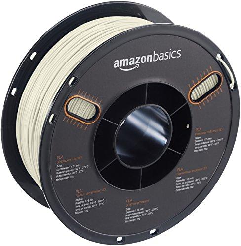 AmazonBasics PLA 3D Printer Filament, 1.75mm, Glow, 1 kg Spool