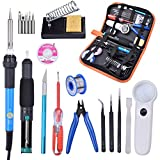 OlogyMart 60W 220V Adjustable Temperature Soldering Iron Tools Kit with Desoldering Pump Soldering Iron Stand