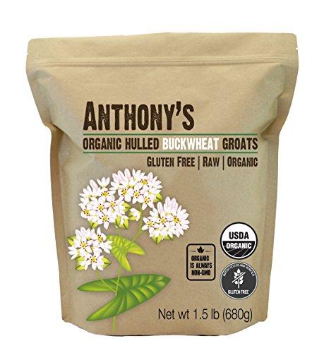 Anthony's Organic Hulled Buckwheat Groats, 1.5lbs, Raw, Grown in USA, Gluten Free ()