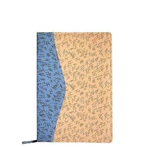 COTECH Printed PU Faux Leather Material Professional File Folders for Certificates, Documents Holder with 20 Leafs (Size-B4, Color: Blue)_LD1