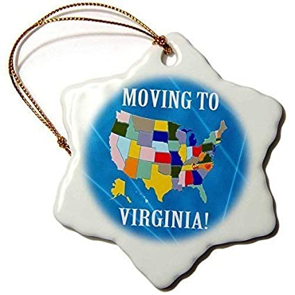 Funny United States Map.Amazon Com Funny Snowflake Christmas Ornaments United States Map