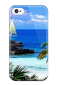 Lucila Cruz-Rodrigues's Shop New Style Slim Fit Tpu Protector Shock Absorbent Bumper Eleuthera Point, Harbour Island Bahamas Case For Iphone 4/4s