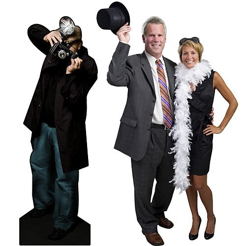 5 ft. 8 in. Hollywood Movie Star Flashing Paparazzi Standee Standup Photo Booth Prop Background Backdrop Party Decoration Decor Scene Setter Cardboard Cutout -