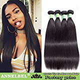 Peruvian Straight Hair 4 Bundles 100% Raw Unprocessed Human Hair Extensions Double Weft