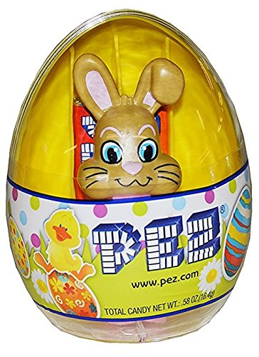 PEZ Easter Egg Assorted Candy Dispensers, 0.58 Ounce (Yellow Egg with Bunny) - Xbox Edible Images