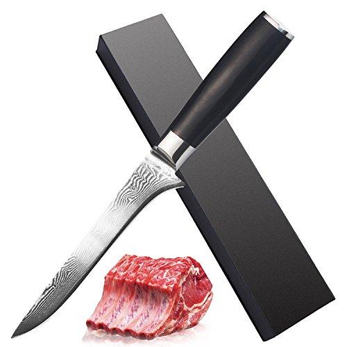 Boning Knife - VG10-6 (152mm) - Premium AUS-10 High Carbon Damascus Stainless Steel by Muncene