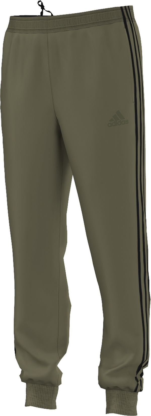 adidas Men's Essentials Tricot Jogger Pants, Olive Cargo/Black, Large by adidas