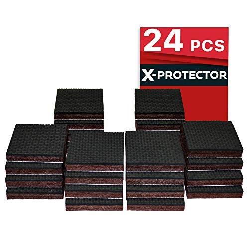 (Non Slip Furniture Pads X-PROTECTOR - Premium 24 pcs 1 1/2