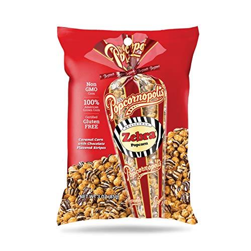 Popcornopolis Gourmet Popcorn Snack Bag (pack of 20) (Zebra Popcorn 3oz)