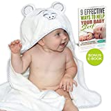 Premium Bamboo Hooded Baby Towel by Liname - Extra Soft,...