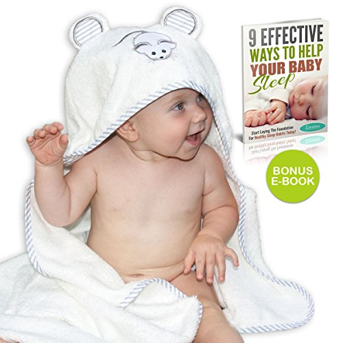 Premium Bamboo Hooded Baby Towel by Liname - Extra Soft, Thick & Ultra Absorbent - Extra Large 40'' x 28'' for Infants & Toddlers - Keep Your Baby Warm & Cosy - Includes Bonus eBook