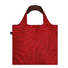 LOQI Reusable Tote Bag, Fire Print, Multi-Colored Print, International Carry-on