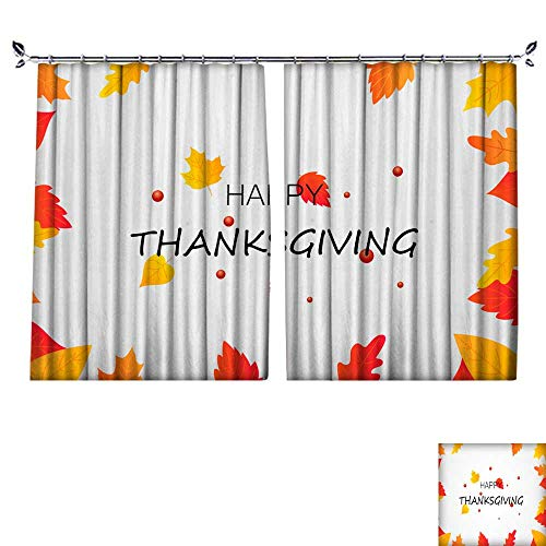 DragonBuildingMaterials Blackout Draperies for Bedroom Happy Thanksgiving Poster