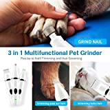 Dog Nail Grinder Hair Trimmer - 3 in 1 Multi