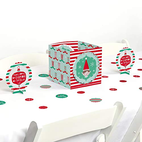 Big Dot of Happiness Elf Squad - Kids Elf Christmas and Birthday Party Centerpiece and Table Decoration Kit -
