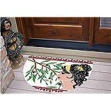 "3D Semicircle Floor Stickers Personalized Floor Wall Sticker Decals,Profile and Olive Branch Greek Borders Framework,Kitchen Bathroom Tile Sticker Living Room Bedroom Kids Room Decor Art Mural D27.5"""