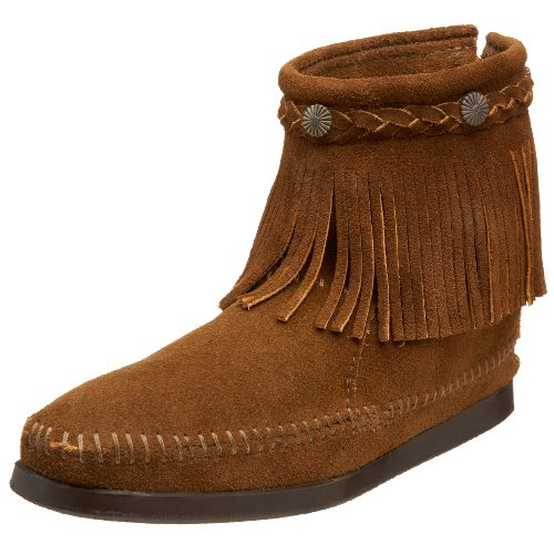 donna Dusty Boot Hi Brown Browndusty Marrone da Minnetonka Zip Back Top Stivale xqgnFF0B1w