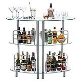 Mango Steam Contemporary Modern Home Liquor Bar Catalina Table (Glass)
