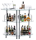 Mango Steam Contemporary Modern Home Liquor Bar Catalina Table Tempered Glass