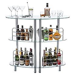 Home Bar Cabinetry Mango Steam Contemporary Modern Home Liquor Bar Catalina Table Tempered Glass home bar cabinetry